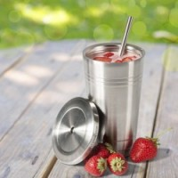 Stainless Steel Travel Tumbler by Savvy Drinkware - 16 Oz